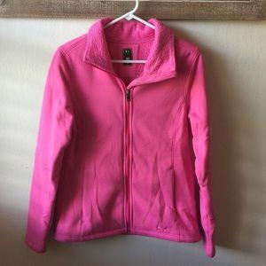 UA pink storm zip up fleece